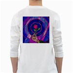 Enchanted Rose Stained Glass White Long Sleeve T-Shirts Back