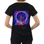 Enchanted Rose Stained Glass Women s Loose-Fit T-Shirt (Black) Back