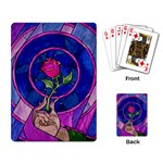 Enchanted Rose Stained Glass Playing Card Back