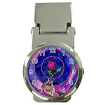 Enchanted Rose Stained Glass Money Clip Watches Front