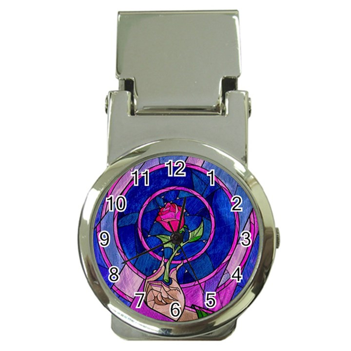 Enchanted Rose Stained Glass Money Clip Watches