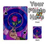 Enchanted Rose Stained Glass Playing Cards 54 Designs  Front - Spade3