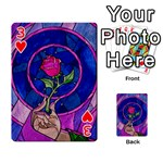 Enchanted Rose Stained Glass Playing Cards 54 Designs  Front - Heart3