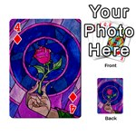 Enchanted Rose Stained Glass Playing Cards 54 Designs  Front - Diamond4