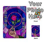 Enchanted Rose Stained Glass Playing Cards 54 Designs  Front - Joker1