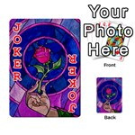 Enchanted Rose Stained Glass Playing Cards 54 Designs  Front - Joker2