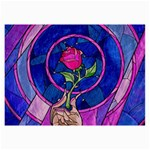 Enchanted Rose Stained Glass Collage Prints 18 x12 Print - 2