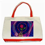 Enchanted Rose Stained Glass Classic Tote Bag (Red) Front