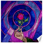 Enchanted Rose Stained Glass Canvas 12  x 12   12 x12 Canvas - 1