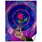 Enchanted Rose Stained Glass Canvas 12  x 16   16 x12 Canvas - 1