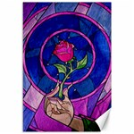 Enchanted Rose Stained Glass Canvas 12  x 18   18 x12 Canvas - 1