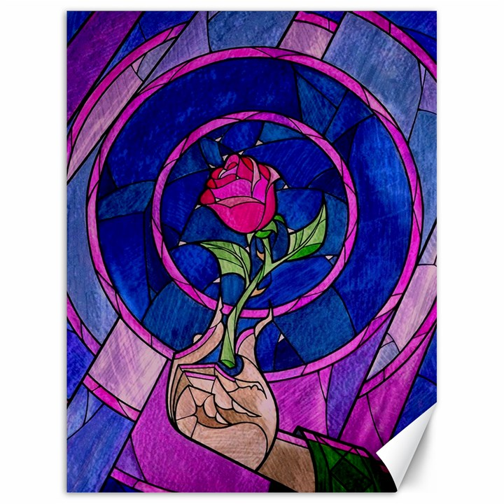 Enchanted Rose Stained Glass Canvas 18  x 24