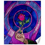 Enchanted Rose Stained Glass Canvas 20  x 24   24 x20 Canvas - 1
