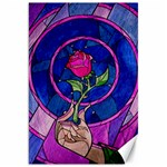 Enchanted Rose Stained Glass Canvas 20  x 30   30 x20 Canvas - 1