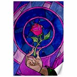 Enchanted Rose Stained Glass Canvas 24  x 36  36 x24 Canvas - 1