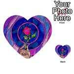 Enchanted Rose Stained Glass Playing Cards 54 (Heart)  Back