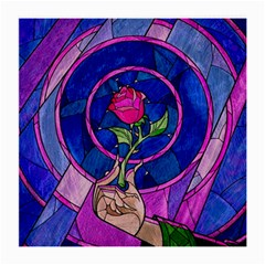 Enchanted Rose Stained Glass Medium Glasses Cloth (2 Side)