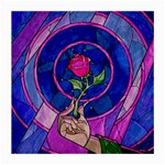 Enchanted Rose Stained Glass Medium Glasses Cloth (2-Side) Back