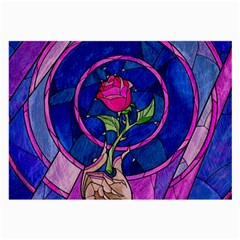 Enchanted Rose Stained Glass Large Glasses Cloth (2-Side)
