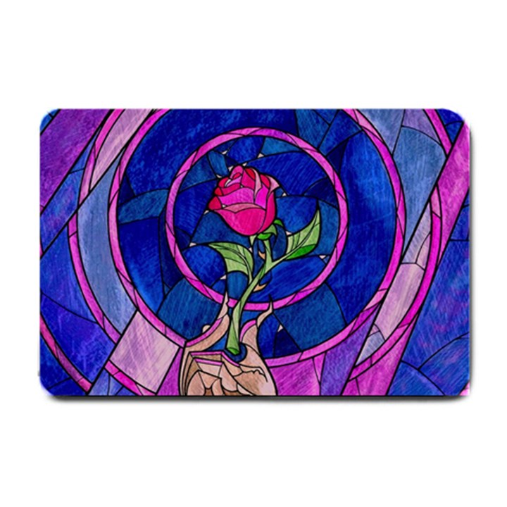 Enchanted Rose Stained Glass Small Doormat