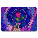 Enchanted Rose Stained Glass Large Doormat  30 x20 Door Mat - 1