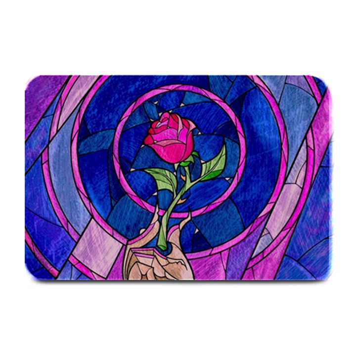 Enchanted Rose Stained Glass Plate Mats