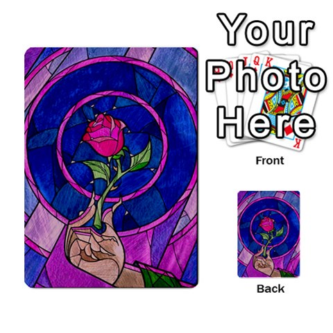 Enchanted Rose Stained Glass Multi-purpose Cards (Rectangle)
