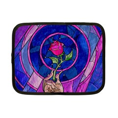 Enchanted Rose Stained Glass Netbook Case (small)