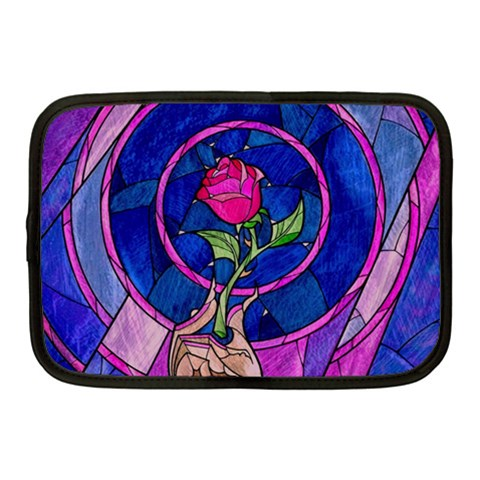 Enchanted Rose Stained Glass Netbook Case (Medium)