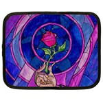 Enchanted Rose Stained Glass Netbook Case (Large) Front