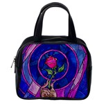 Enchanted Rose Stained Glass Classic Handbags (One Side) Front