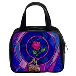 Enchanted Rose Stained Glass Classic Handbags (2 Sides) Front
