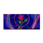 Enchanted Rose Stained Glass Hand Towel Front