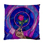 Enchanted Rose Stained Glass Standard Cushion Case (Two Sides) Back