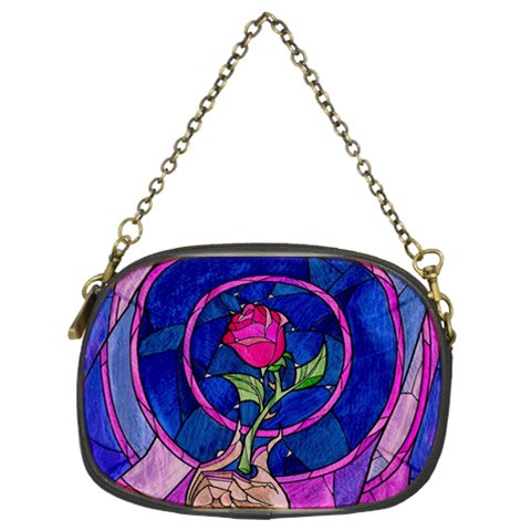 Enchanted Rose Stained Glass Chain Purses (Two Sides)