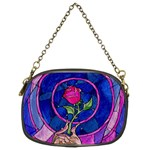 Enchanted Rose Stained Glass Chain Purses (Two Sides)  Front