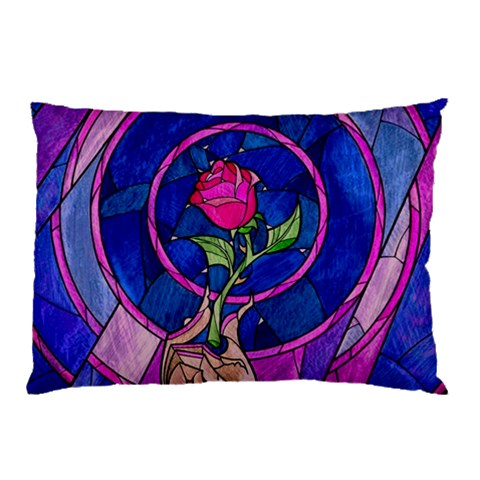 Enchanted Rose Stained Glass Pillow Case