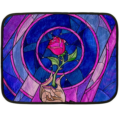 Enchanted Rose Stained Glass Fleece Blanket (Mini)