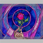 Enchanted Rose Stained Glass Canvas 14  x 11  14  x 11  x 0.875  Stretched Canvas