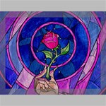 Enchanted Rose Stained Glass Canvas 16  x 12  16  x 12  x 0.875  Stretched Canvas