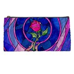 Enchanted Rose Stained Glass Pencil Cases Front