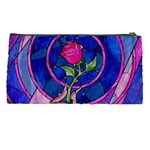 Enchanted Rose Stained Glass Pencil Cases Back