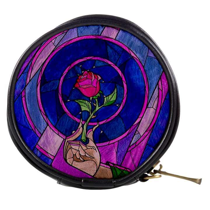 Enchanted Rose Stained Glass Mini Makeup Bags