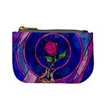 Enchanted Rose Stained Glass Mini Coin Purses Front