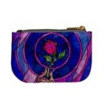 Enchanted Rose Stained Glass Mini Coin Purses Back