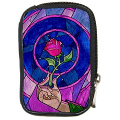 Enchanted Rose Stained Glass Compact Camera Cases