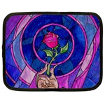 Enchanted Rose Stained Glass Netbook Case (XXL)  Front