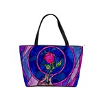 Enchanted Rose Stained Glass Shoulder Handbags Front