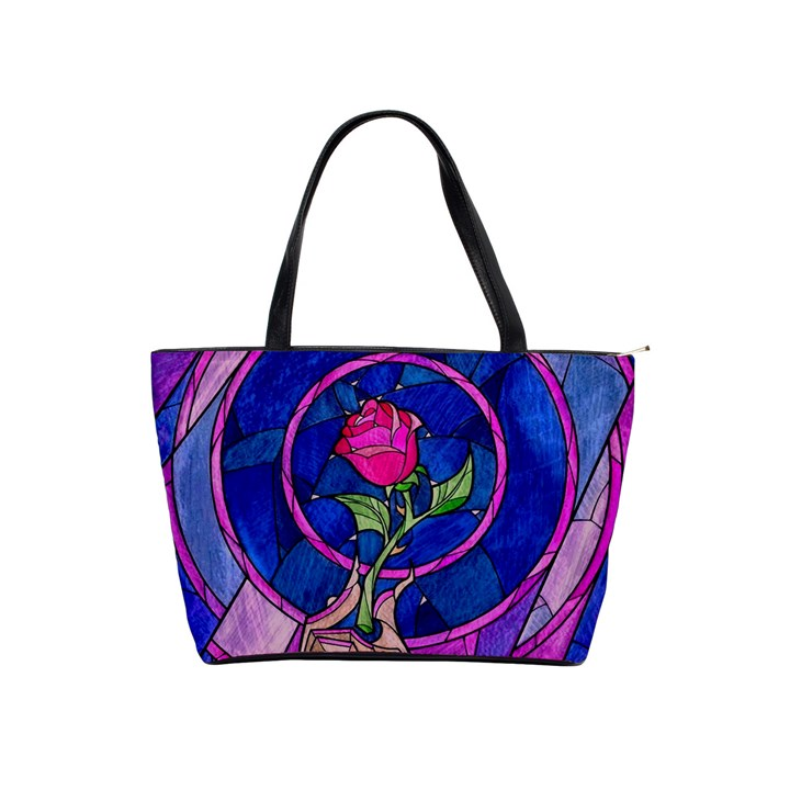 Enchanted Rose Stained Glass Shoulder Handbags