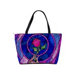 Enchanted Rose Stained Glass Shoulder Handbags Back